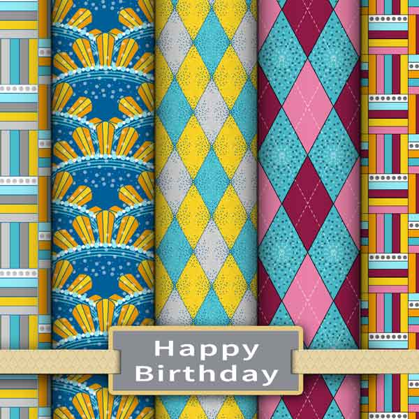 Happy birthday fabric and wallpaper