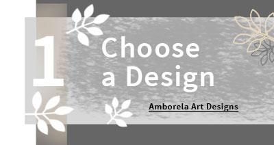 Choose an Amborela art design to customize