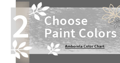 Choose paint colors to customize your Amborela painting