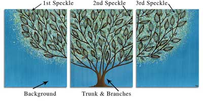 Customize an inked tree painting