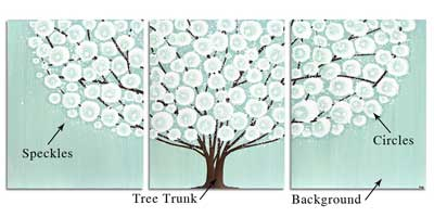 Customize a tree painting triptych