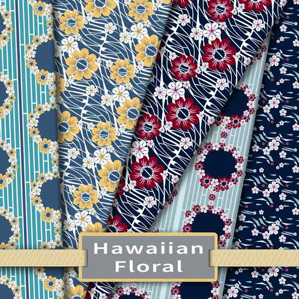 Hawaiian Floral Surface Patterns