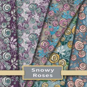 Snowy Rose Fabric & Wallpaper