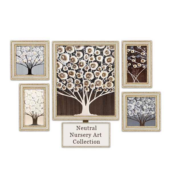 Gray and brown nursery art collection