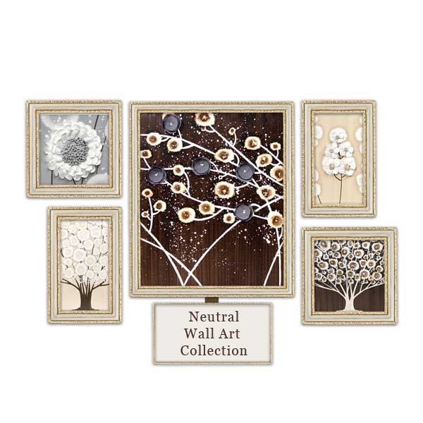 Gray and brown neutral wall art