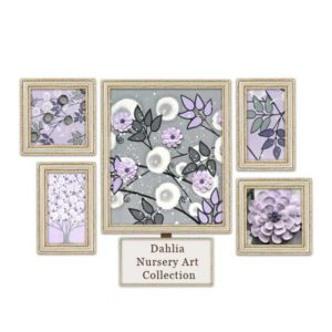 Lilac & Gray Nursery Art