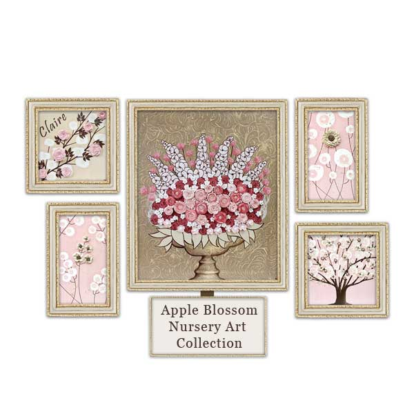 Pink and brown nursery art
