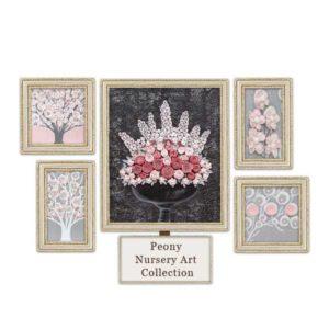 Pink & Gray Nursery Art