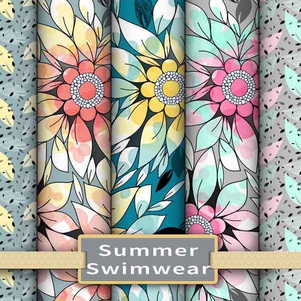 Summer fabric and wallpaper