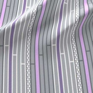 lilac purple and gray stripe nursery fabric