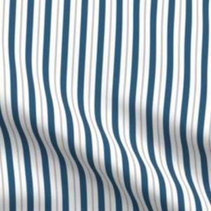 Fabric & Wallpaper: Vertical Stripes in Indigo, Gray, White