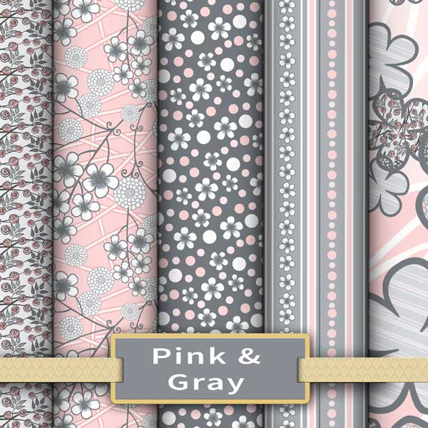 Pink and gray colorway for nursery fabrics