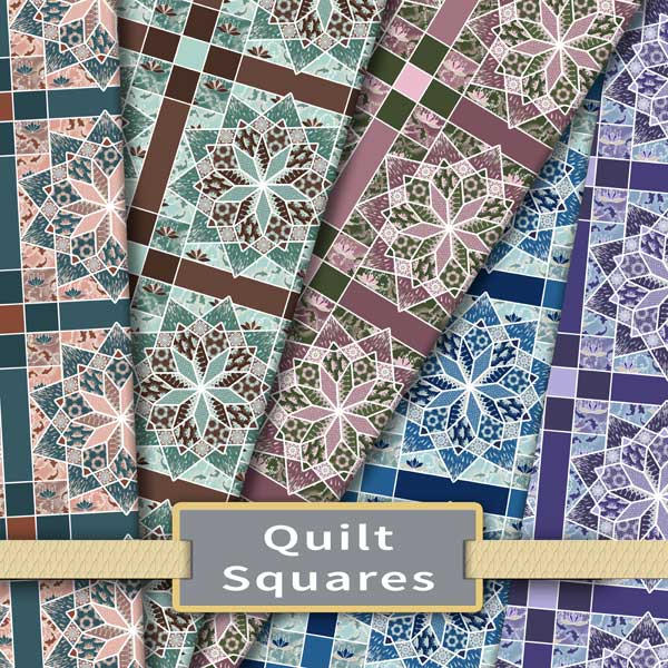 Quilt square fabric colorway