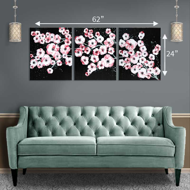Extra large size cherry blossom painting