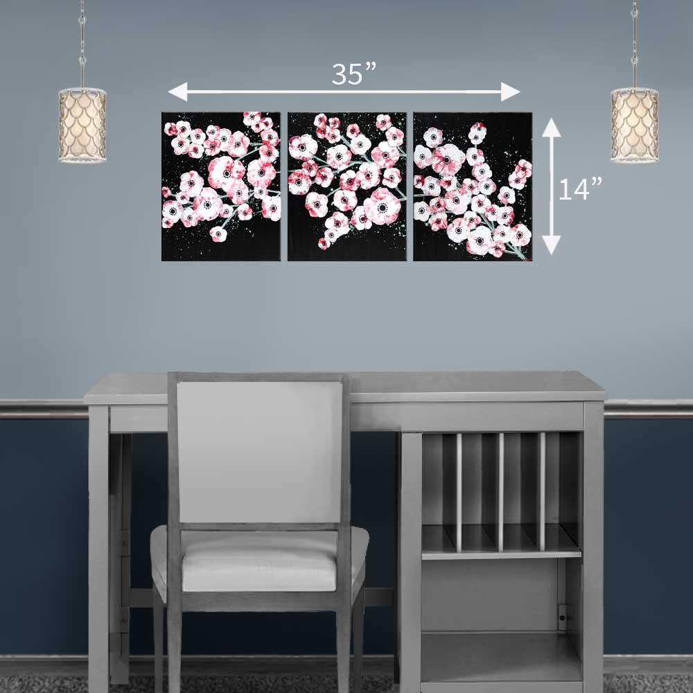 Medium size cherry blossom painting