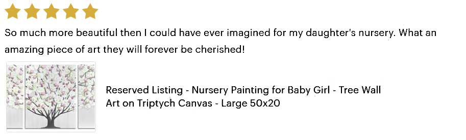 5 star review of custom tree painting