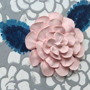 Dahlia Flower Nursery Canvas Art, Gray, Blue, Pink – Large