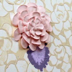 Dahlia Flower Set of Two Nursery Art Paintings, Pink, Purple – Large