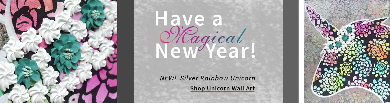 New magical unicorn wall art for the new year