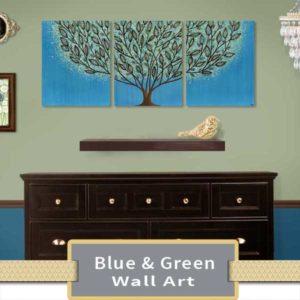 Blue & Green Wall Art