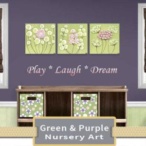 Green & Purple Nursery Art