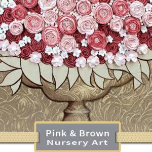 Pink & Brown Nursery Art