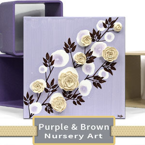 Purple & Brown Nursery Art