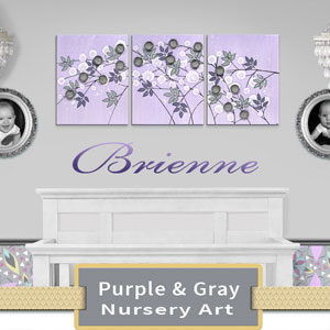 Lilac & Gray Nursery Art