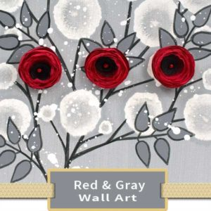 Red & Gray Wall Art