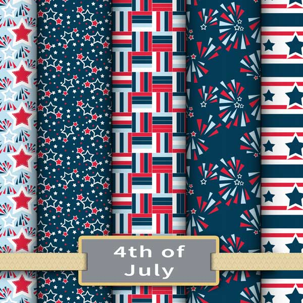 4th of July fabric and wallpaper