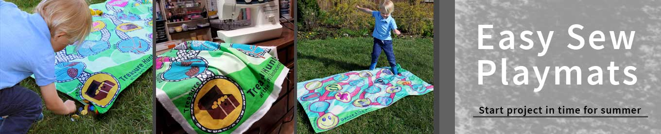 easy to sew playmats by Amborela