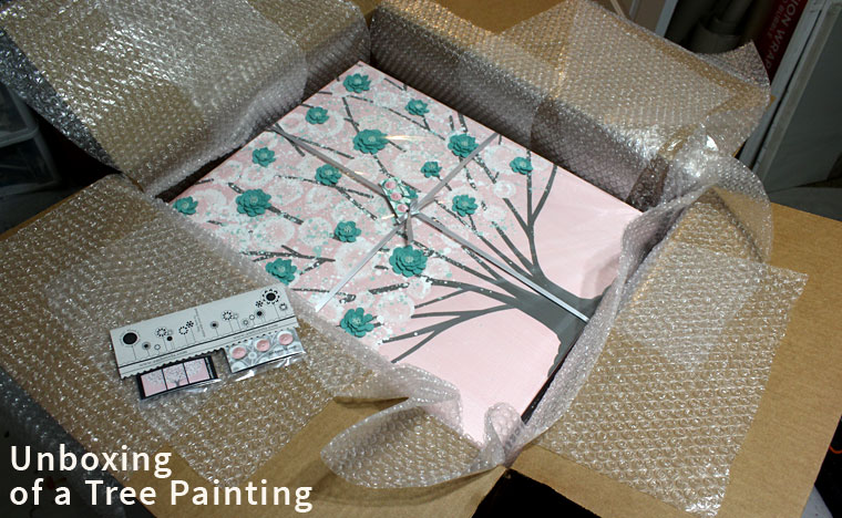 Unboxing of an Amborela painting