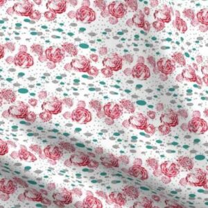 Fabric & Wallpaper: Red Stamped Roses