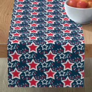 Fabric & Wallpaper: 4th of July Fireworks and Stars on Dark Blue