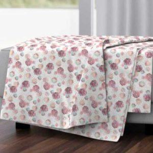 Fabric & Wallpaper: Boho Style Roses on White Stripes