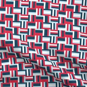 red white and blue basketweave patriotic fabric