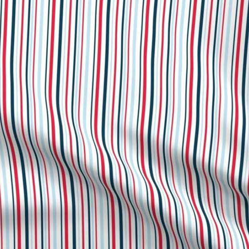 red white and blue stripes patriotic fabric