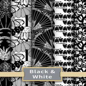Black & White Fabric & Wallpaper