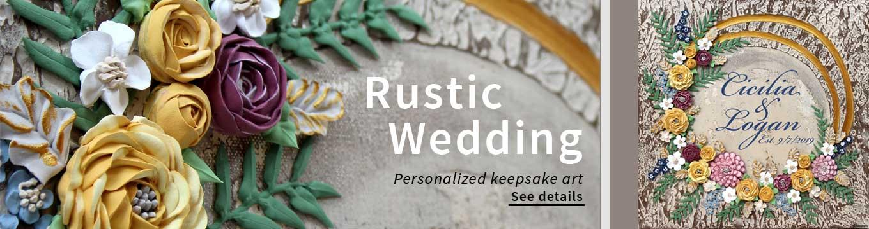 Rustic wedding keepsake art