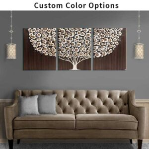 Canvas Art Tree Triptych in Custom Colors | Large – Extra Large