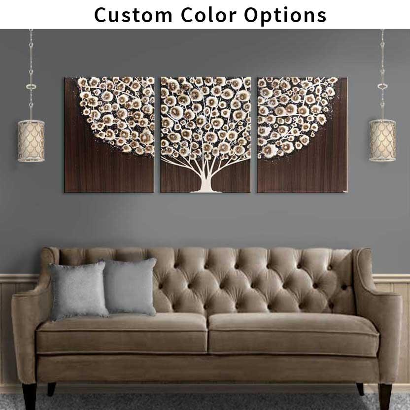Custom canvas art tree