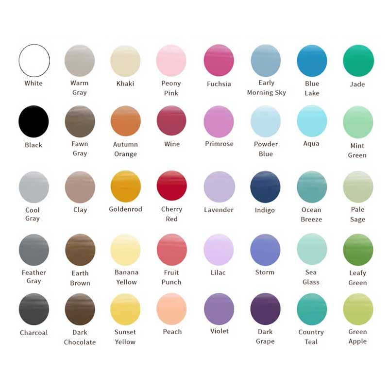 Amborela paint color chart