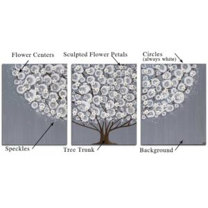 Custom Wall Art Triptych of Tree | Large – Extra Large