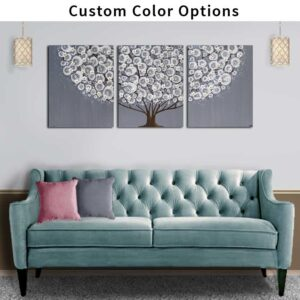 Custom color flowering tree wall art