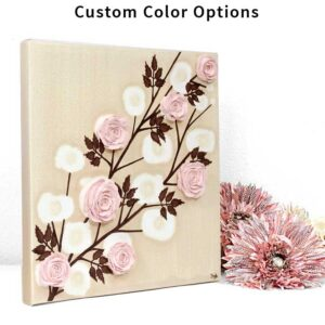 Sculpted Rose Canvas Art in Custom Colors to Match Nursery | Small