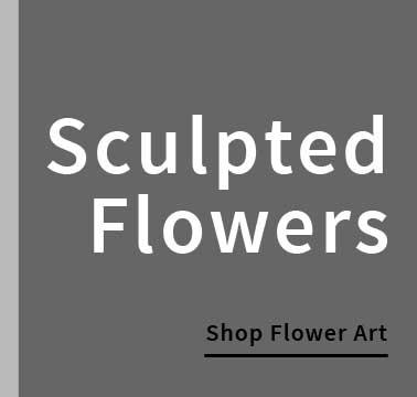Sculpted flower wall art