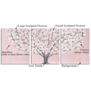 Custom Flowering Tree Wall Art to Match Nursery Colors | Large