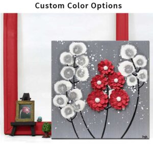 Wildflower Canvas Art in Custom Colors | Small