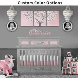 Nursery tree art in custom color options