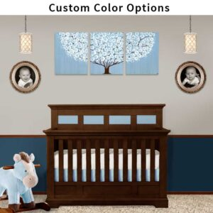Nursery canvas art of custom colored tree